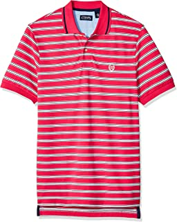 Chaps Men's Classic Fit Striped Cotton Mesh Polo Shirt