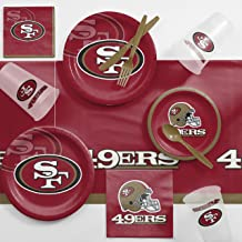 Creative Converting San Francisco 49ers Game Day Party Supplies Kit, Serves 8