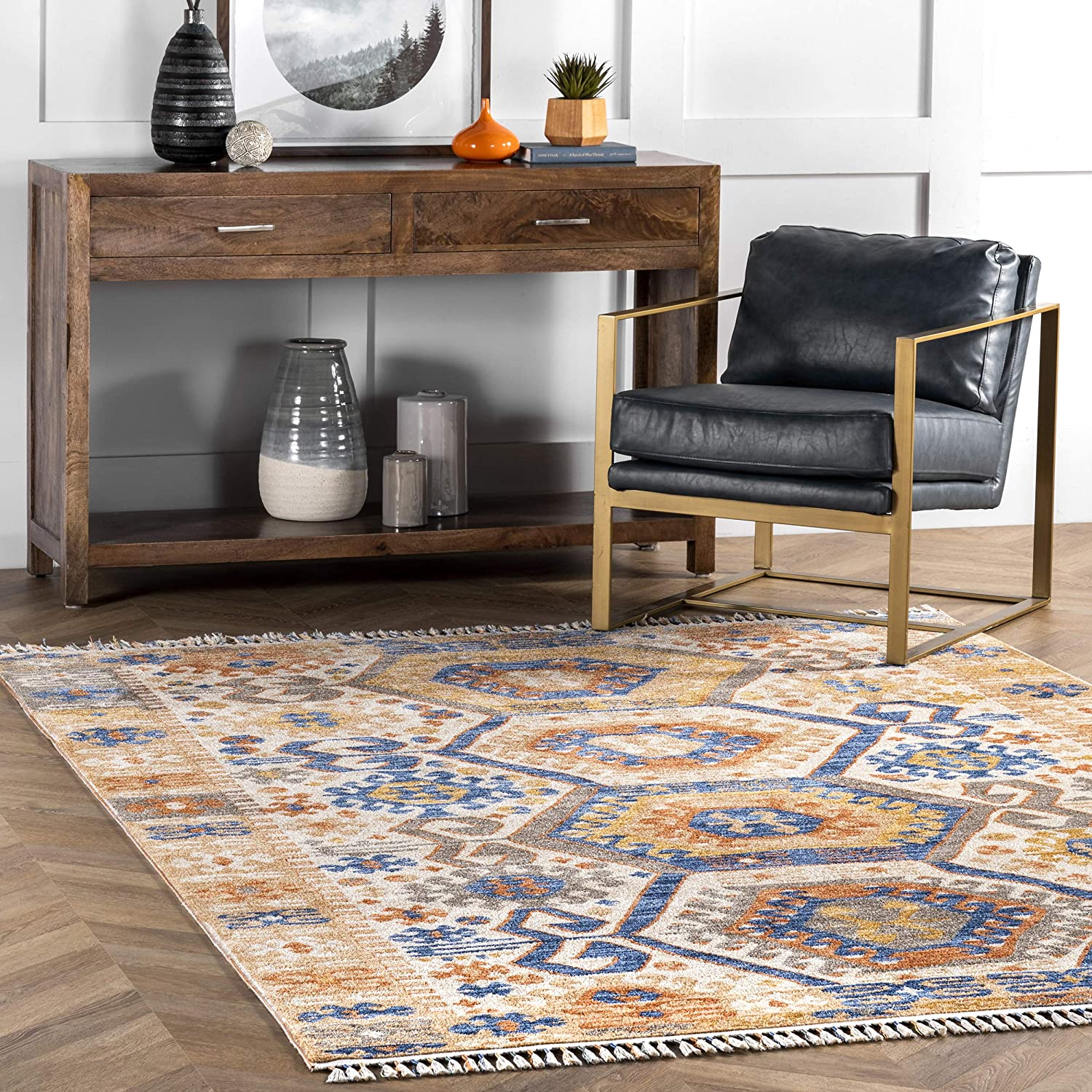 nuLOOM Ripley Global Tasseled Area x Max 85% OFF 10' Rug Multi 8' Now free shipping