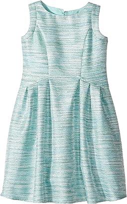 Sleeveless Cutaway Back with Box Pleat Skirt Dress (Toddler/Little Kids)