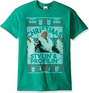 WWE Men's RIC Flair Stylin & Profilin Ugly Christmas T-Shirt Big and Tall