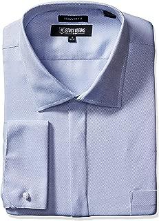 STACY ADAMS Men's Big-Tall Textured Solid Dress Shirt
