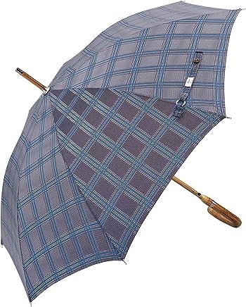 Balios(设计于英国威望远镜)雨伞 - 豪华栗木鳄木手柄 - 竹制防震玻璃框架-自动开合-300T 优质面料