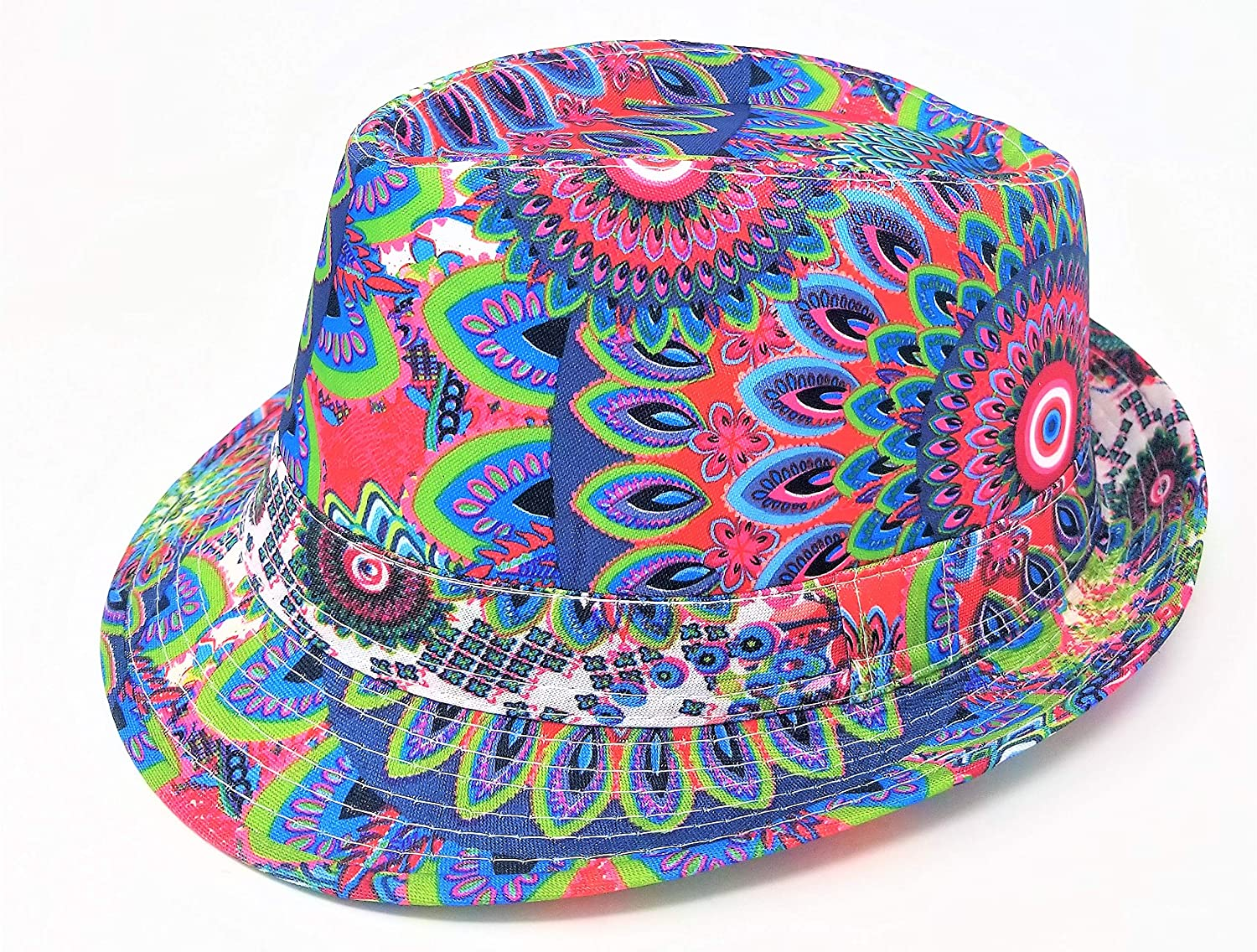 trippy psychedelic Unisex Comfortable Lightweight Fedora Hat, for Parties, Fashion, Fun Events and More