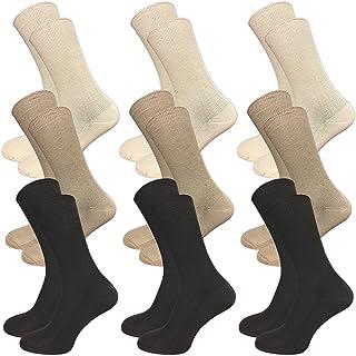 GAWILO, 9 pares de calcetines sin costuras apretadas, sin goma, para hombre y mujer, con cintura cómoda