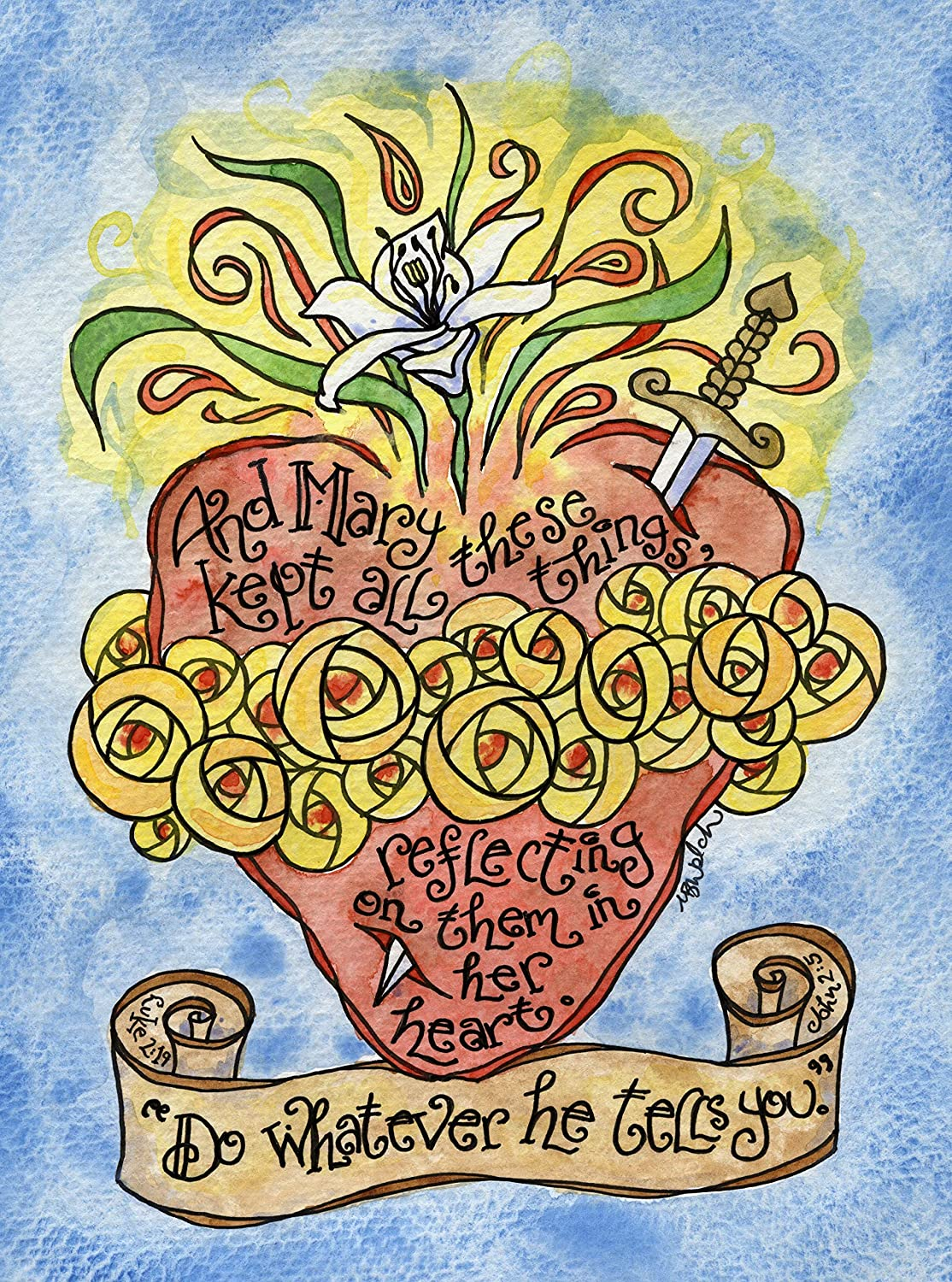 Immaculate Heart Catholic Store Super Special SALE held Art Scripture with Print Hand-Drawn;