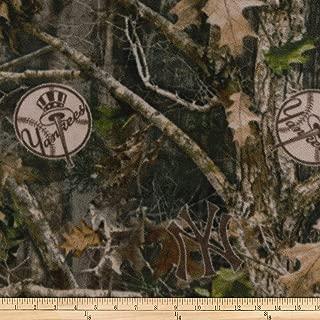 True Timber Fleece NY Yankees Fabric, Camo, Fabric By The Yard