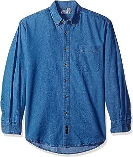 Men's Long Sleeve Denim Shirts in Sizes XS-6XL