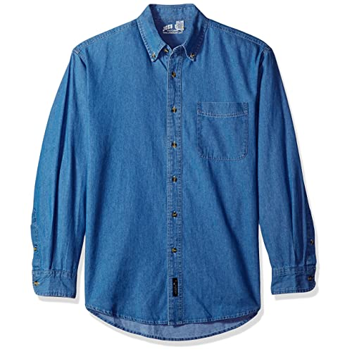 58dc8a1e13 Men s Long Sleeve Denim Shirts in Sizes XS-6XL