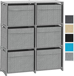 Multi-Configuration Fabric Storage Drawer Tower | Storage Cube Organizer with Bins | Great for Toys, Clothes, Etc. | Dresser for Bedroom, Closet, Livingroom, Playroom, Dorm. (Grey)