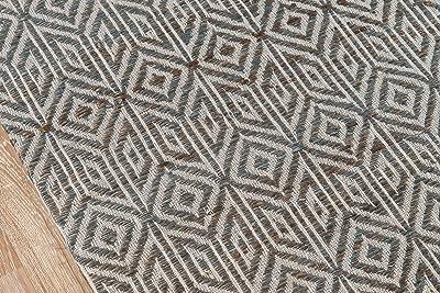 "Momeni Rugs Bengal Transitional Geometric Area Rug 5'0"" x 8'0"", Grey"