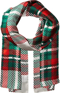 Echo Design - Graphic Plaid Silk Oblong Scarf