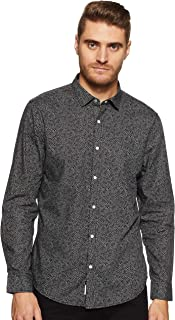 Peter England Men's Printed Loose Fit Casual Shirt