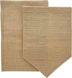 Juvale 6-Pack Blank Burlap Garden Flag for DIY Decor, 2 Shapes, 17.7 x 11.8 Inches