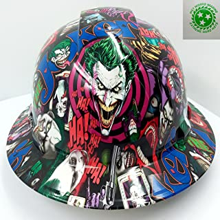 Wet Works Imaging Customized Pyramex Full BRIM FULL COLOR JOKER HARD HAT With Ratcheting Suspension