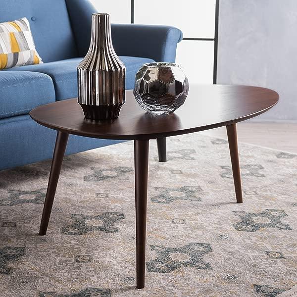 GDF Studio 299909 Caspar Walnut Wood Coffee Table