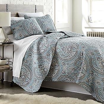Southshore Fine Linens - The Pure Melody Collection - Quilts Sets, 3 Piece Set, Full/Queen, Aqua