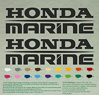 Pair of Honda Marine Boats Outboards Decals Vinyl Stickers Boat Outboard Motor Lot of 2 (12