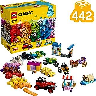 LEGO 10715 Classic Byggklossar Set för Fordon med Hjul och Däck, Flerfärgad, 442 Delar