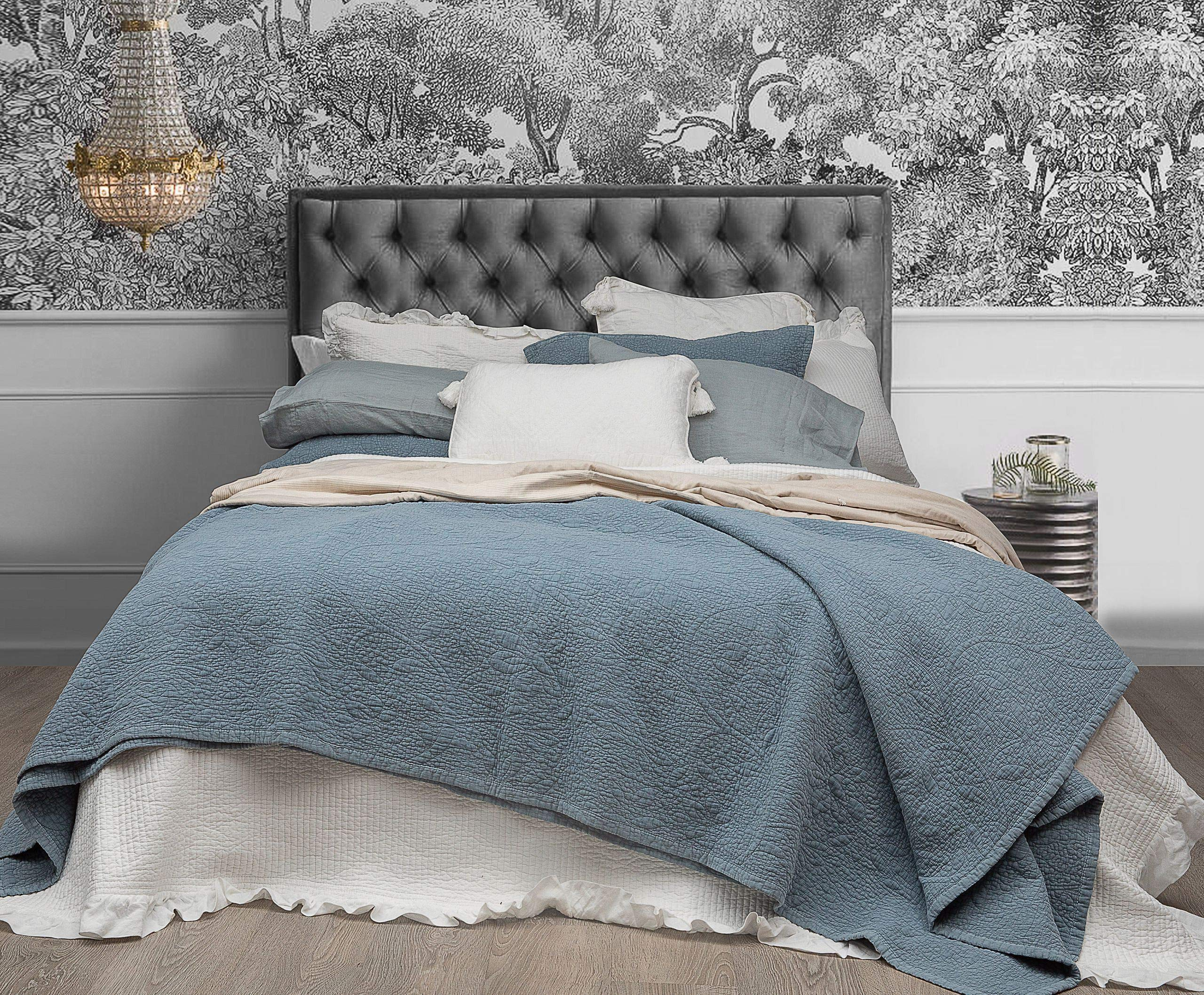 Stonewashed Tropical Palm Rust 100/% Cotton Coverlet Bedspread Bedcover Set New