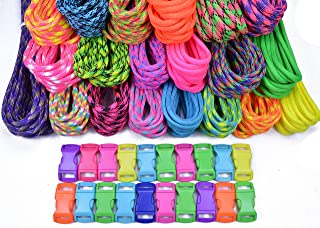 BoredParacord 550lb Type III Paracord Combo Crafting Kits with Buckles