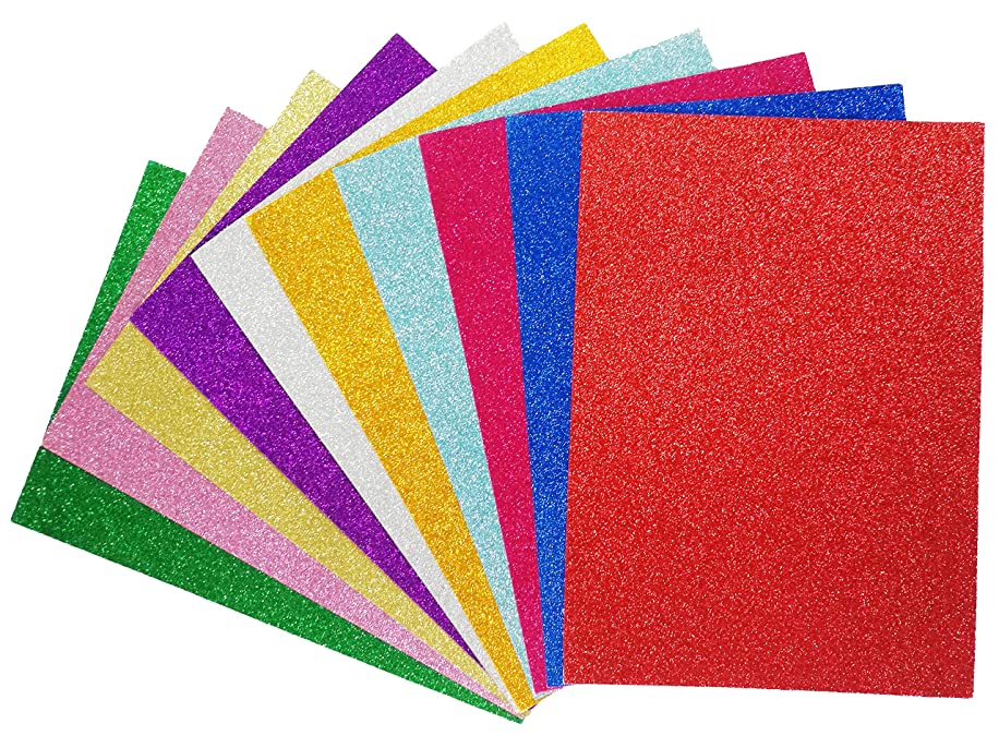 Glitter Cardstock Paper-A4 Glitter Paper for Wrapping-Scrapbook-DIY Craft Paper Project-Wedding Birthday Party Decoration-20PCS per Pack- Lolifun