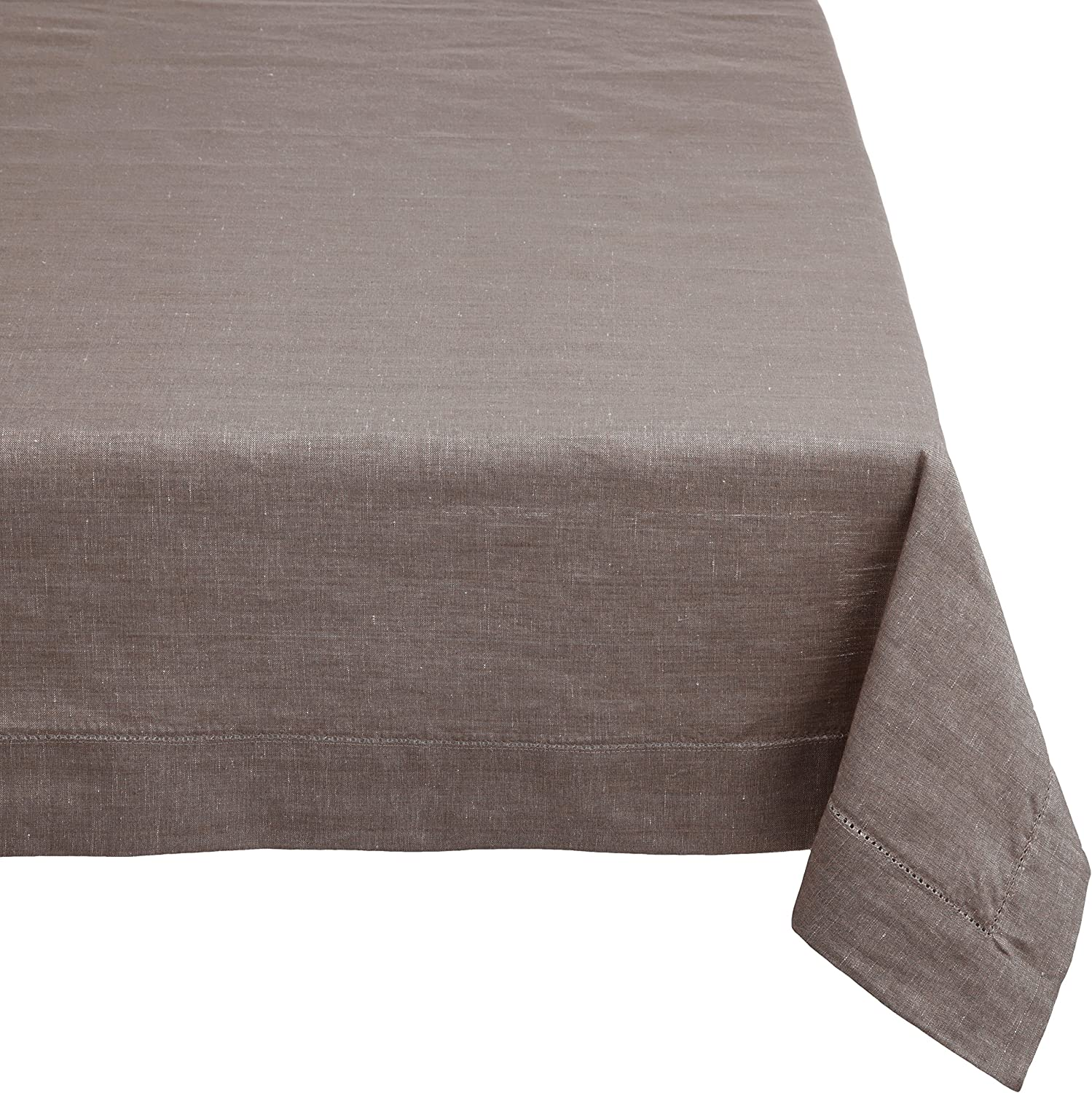 Mahogany T08T120CR Mail order cheap Financial sales sale Rectangle Linen Tablecloth Hole Stitch with