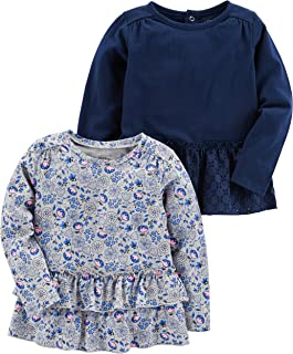 Baby and Toddler Girls' Multi-Pack Long Sleeve Tops