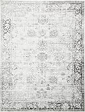 Unique Loom 3134029 Sofia Collection Traditional Vintage Beige Area Rug, 9' x 12' Rectangle, Gray