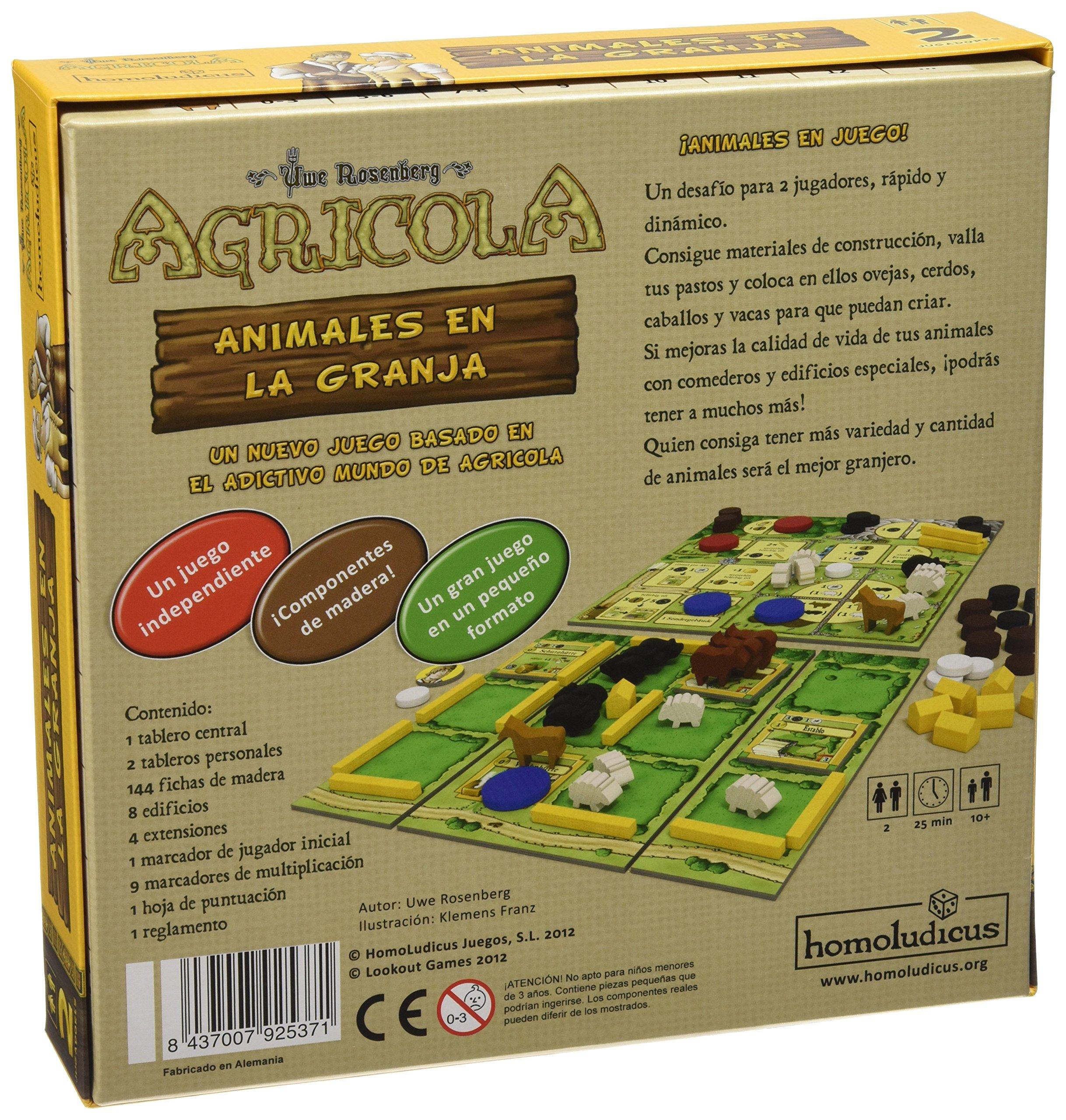 Devir - Agrícola: Animales en la Granja, para 2 Jugadores (HLAGRANI): Amazon.es: Juguetes y juegos