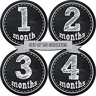 Baby Monthly Milestone Stickers - First Year Set of Baby Month Stickers for Photo Keepsakes - Shower Gift - Set of 20 Gend...
