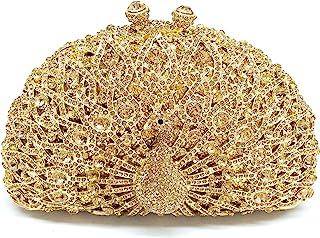 Boutique De FGGCBG823006 - Pfauen Kristall-Abendtasche Damen