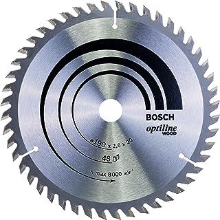 Bosch 2608640614 Optiline trä cirkelsåg blad, 190 mm x 2,6 mm x 20 mm, 48 tänder, silver