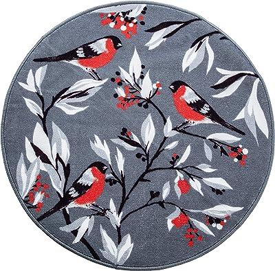 Vallila Punatulkut Rug Ø 100 cm Grey, 100
