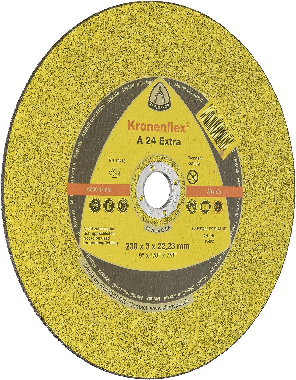 Yellow Klingspor 262936 A 24 R 13754 Disque /à tron/çonner 115 x 1 x 22,23 mm gerade 25 pi/èces 23 mm