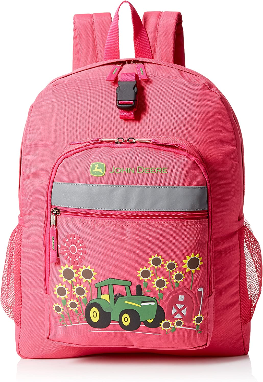 John Deere Sunflower Backpack, Magenta (Pink)  JFL608PC
