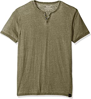 Lucky Brand Men's Burnout Notch Neck Tee