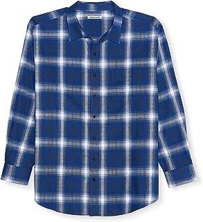 Men's Big & Tall Long-Sleeve Plaid Flannel Shirt fit by DXL