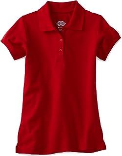 Dickies Girls' Big Short Sleeve Pique Polo Shirt
