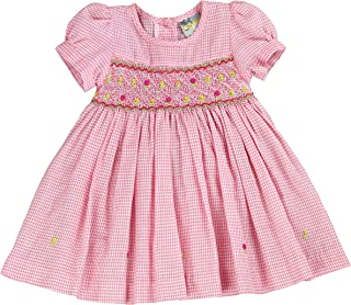 sissymini - Infant and Toddlers (12M-4T) Super Soft & Delicate Cotton Hand Smocked Dress | Paisley Pacino's Plaid
