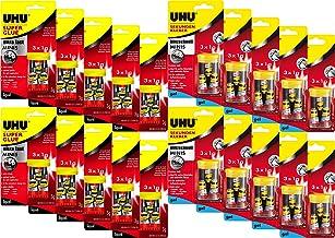 Super Lijm - Uhu 45415 - Instant Lijm - Bliksemsnel - Minis 3x 1,1 g 3 x 1 g flüssig + Gel