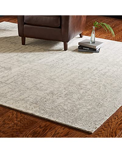 Round Wool Gray Rugs Amazon Com