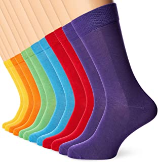 FM London 12-Pack Mens Bamboo Dress Socks
