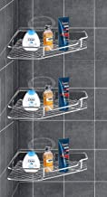 BHAGWATI Stainless Steel Kitchen and Bathroom Shelves Storage Rack Corner Wall Shelf for Home (Pack of 3)