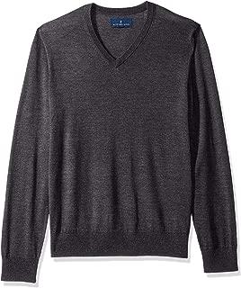 Amazon Brand - BUTTONED DOWN Men's Italian Merino Wool Lightweight Cashwool V-Neck Sweater