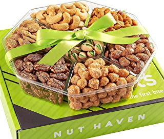 Holiday Nuts Gift Basket - Extra Large 2LB - Sweet & Salty Dry Roasted Gourmet Gift Basket - Food Gift Basket for Christma...
