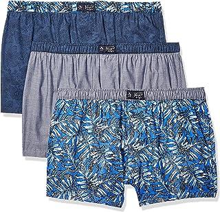 Original Penguin Mens Men's Cotton Woven Boxers, 3 Pk Boxer Shorts