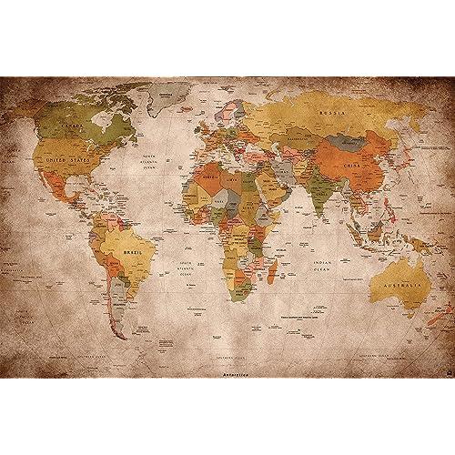 Wall World Map Amazon Co Uk