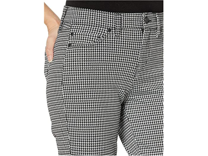 Liverpool Madonna Leggings In Houndstooth Knit Whisper Whiet/black Pants