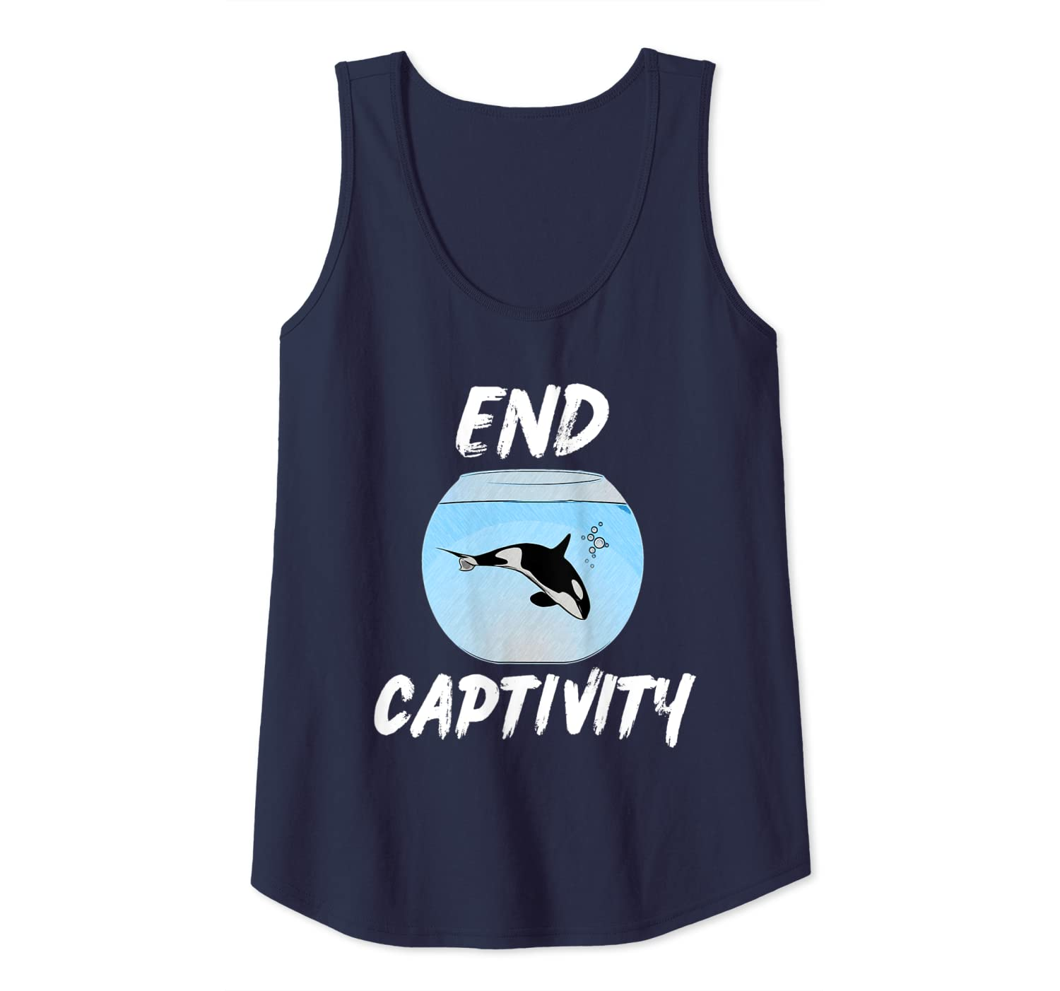 End Captivity Shirt Free the Orca Whales Tank Top